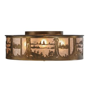 Meyda Tiffany Quiet Pond 4-Light Flush Mount