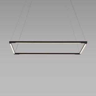 Koncept Technologies Inc Z-Bar 4-Light LED Geometric Pendant