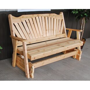 Gauvin Fanback Glider Bench by Millwood Pines
