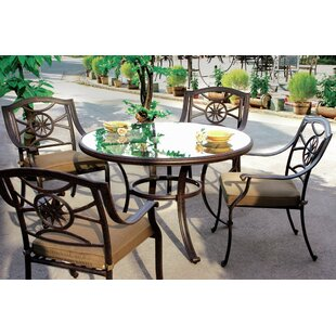 Alcott Hill Thompsontown 5 Piece Dining Set with Cushion