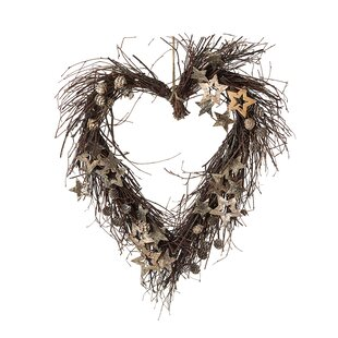 Heart 45cm Twig Christmas Wreath By The Seasonal Aisle