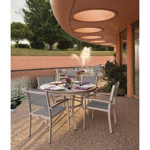 Latitude Run Farmington 5 Piece Dining Set with Titanium Sling Back Chairs