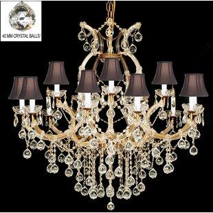 Astoria Grand Alvarado 16-Light Bell Shade Shaded Chandelier