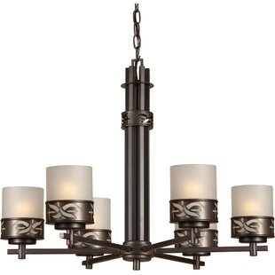 Higdon 6-Light Shaded Chandelier by Bloomsbury Market