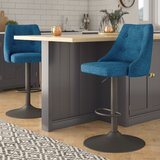 Judkins Adjustable Height Swivel Bar Stool (Set of 2) by Brayden Studio®