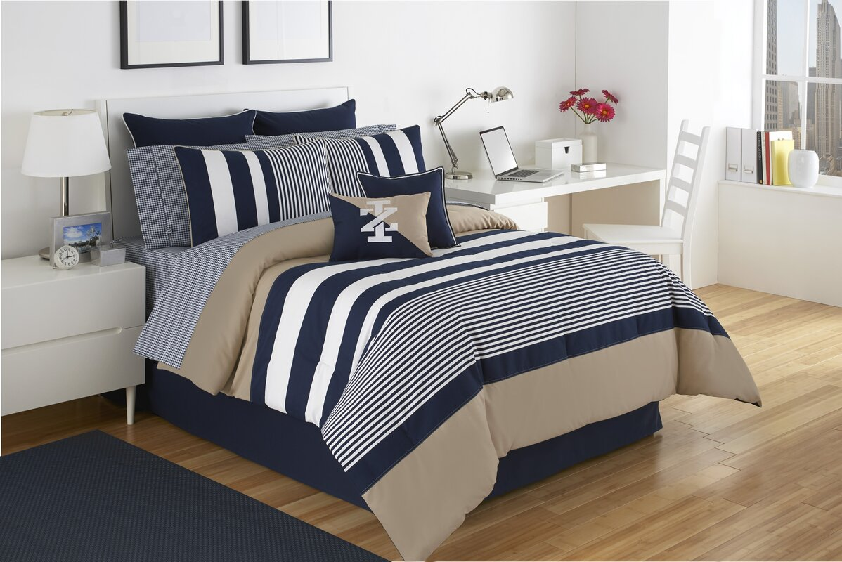 comforter set brighten jewel reversible p multi striped bedding