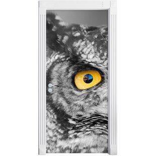 Beautiful Long-Eared Owl Door Sticker By East Urban Home