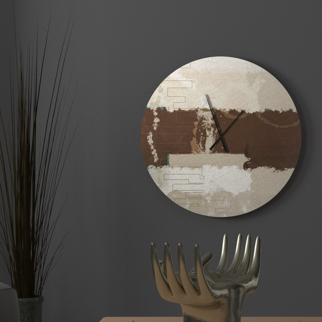 Latitude Run Victor Moral Abstract Metal Wall Clock Wayfair