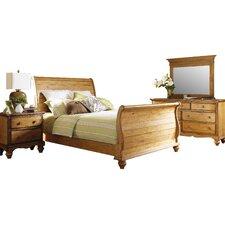 Harlowton Sleigh 4 Piece Bedroom Set by Loon Peak