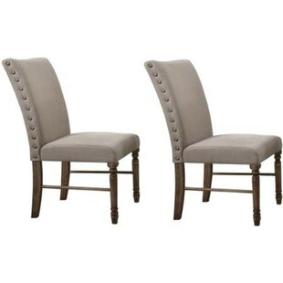 Minard Nailhead Trim Upholstered Dining Chair (Set of 2) by Alcott Hill