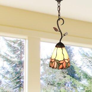 Springdale Lighting Crystal Leaf 1-Light Cone Pendant
