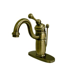 Affordable Price Victorian Mono Deck Bathroom Faucet with Brass Pop-Up Drain ByKingston Brass