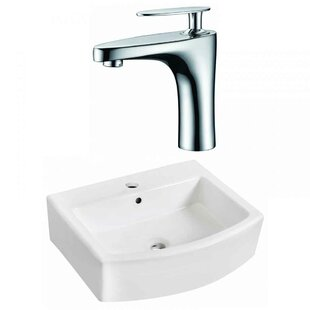 Affordable Price Ceramic 22 Bathroom Sink with Faucet and Overflow By Royal Purple Bath Kitchen