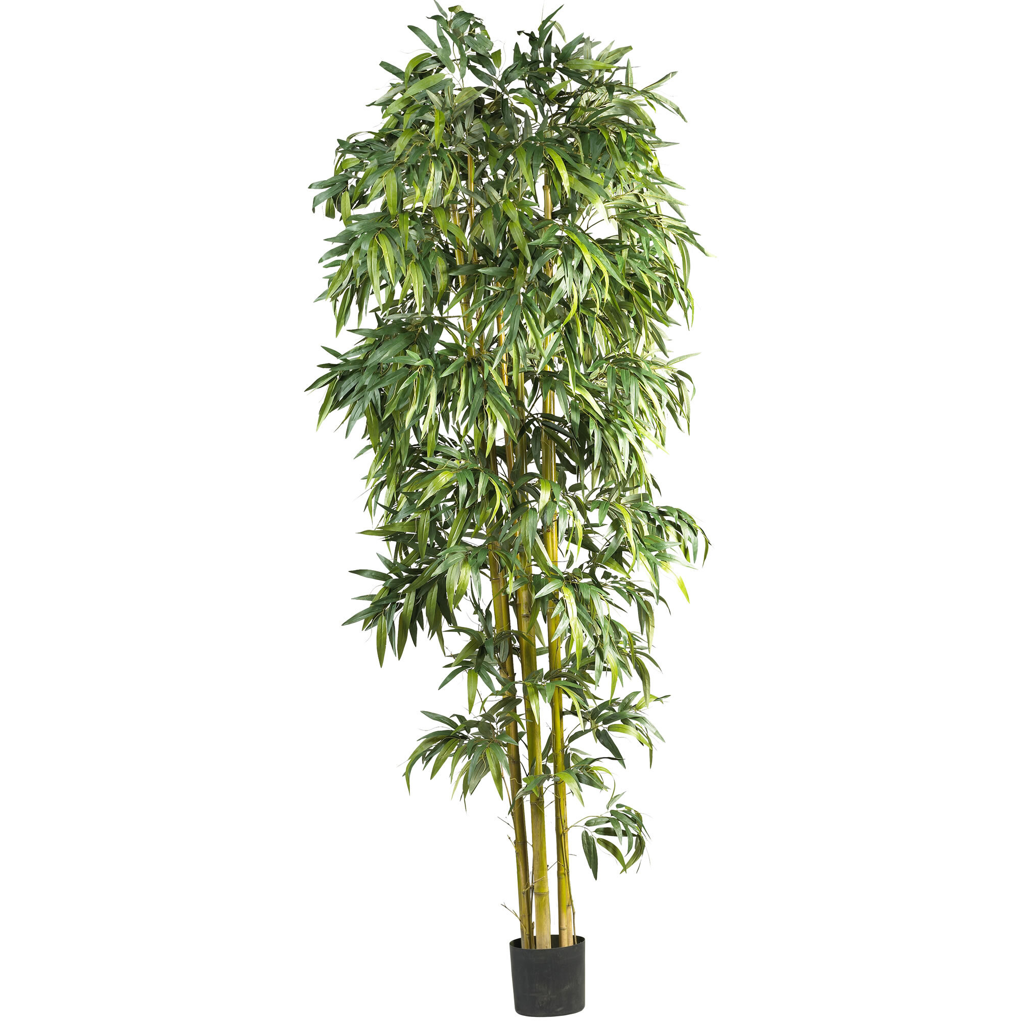 Nearly Natural Biggy Style Bamboo Tree In Planter Reviews Wayfair
