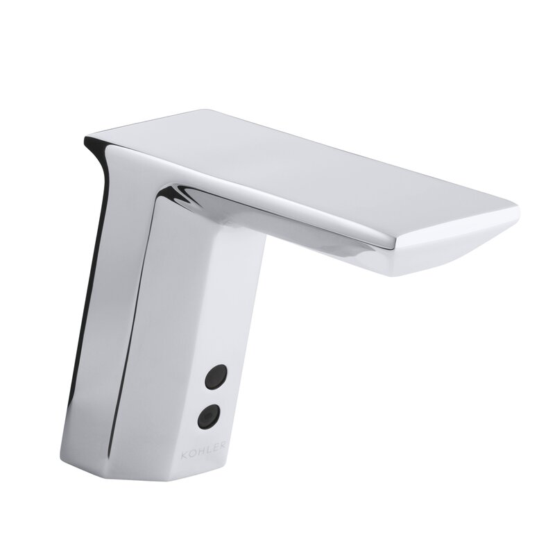 Touchless Bathroom Faucets kohler geometric single-hole touchless ac-powered commercial