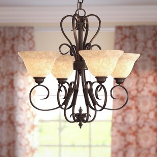 Alcott Hill Gaines 4-Light Shaded Chandelier
