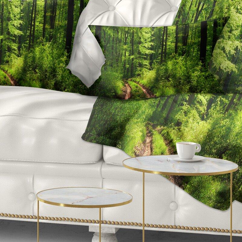 East Urban Home Fascinating Greenery In Wild Forest Lumbar Pillow Wayfair