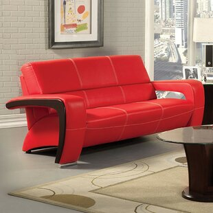Aticus Leather Sofa by Orren Ellis