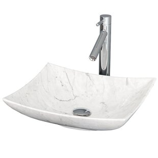 Wyndham Collection Arista Stone Rectangular Vessel Bathroom Sink