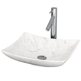 Wyndham Collection Arista Stone Rectangular Vessel Bathroom Sink