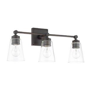 Gallego 3-Light Vanity Light By Three Posts Wall Lights