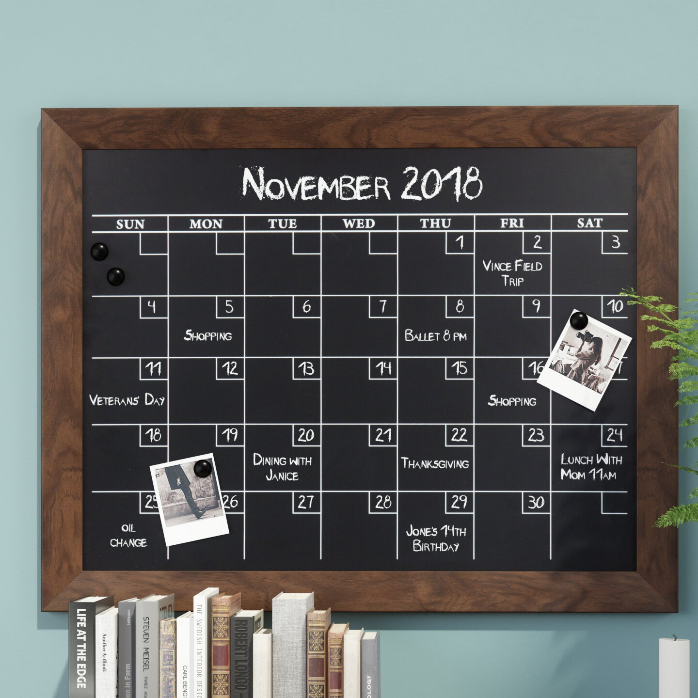 Union Rustic Framed Monthly Calendar Magnetic Wall Mounted Chalkboard Reviews Wayfair