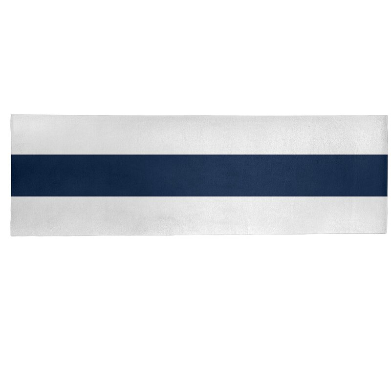 East Urban Home Dallas Football Stripes Poly Blue Area Rug Wayfair