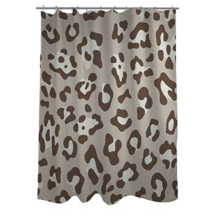 Leopard Print Nougat Single Shower Curtain