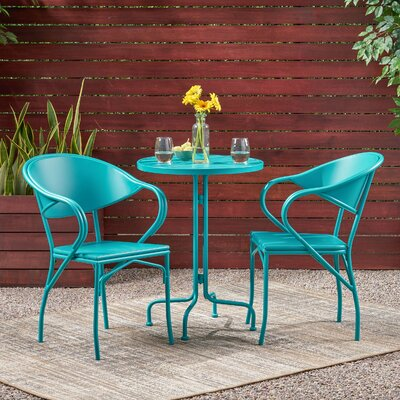 Dalila 3 Piece Bistro Set by Ebern Designs Today Sale Only