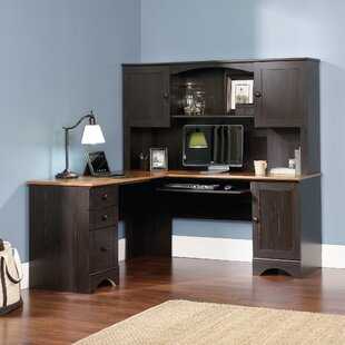 Best Pinellas L-Shape Computer Desk with Hutch By Beachcrest Home