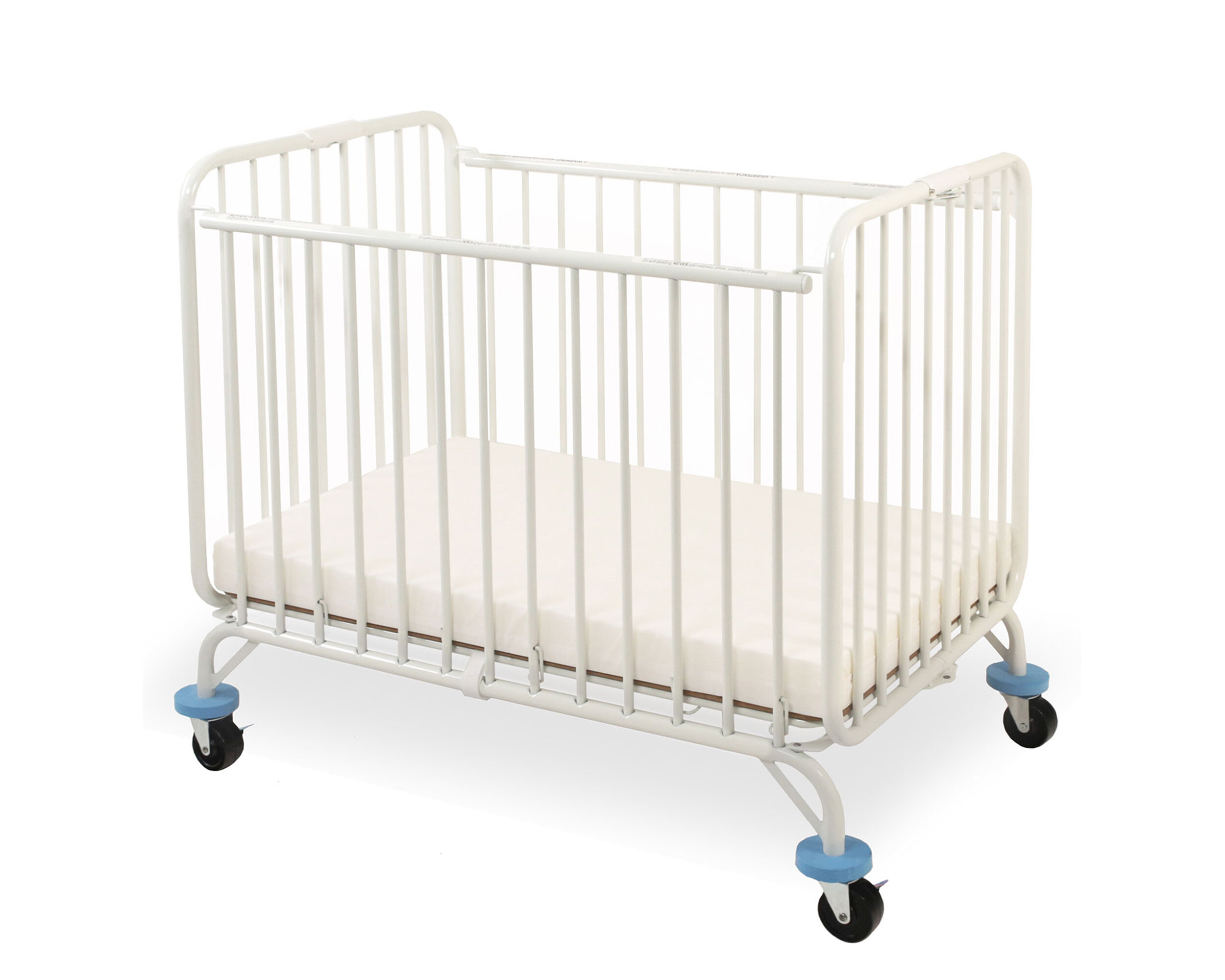 l.a. baby baby holiday portable crib with mattress & reviews | wayfair