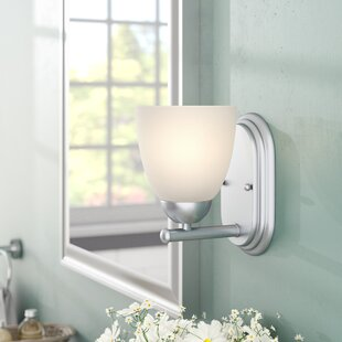 Hayden 1-Light Frosted Bath Sconce by Andover Mills