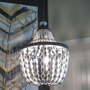House of Hampton Weiner Beaded 3-Light Novelty Chandelier