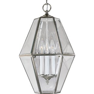 Bluebird 3-Light Geometric Chandelier by Charlton Home