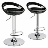 Kapono Modern ABS Hydraulic Adjustable Height Swivel Bar Stool (Set of 2) by Orren Ellis