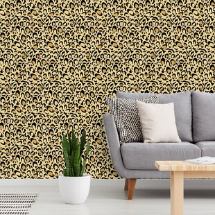 Wisby Leopard Print 48 L X 24 W Paintable Peel And Stick Wallpaper Panel