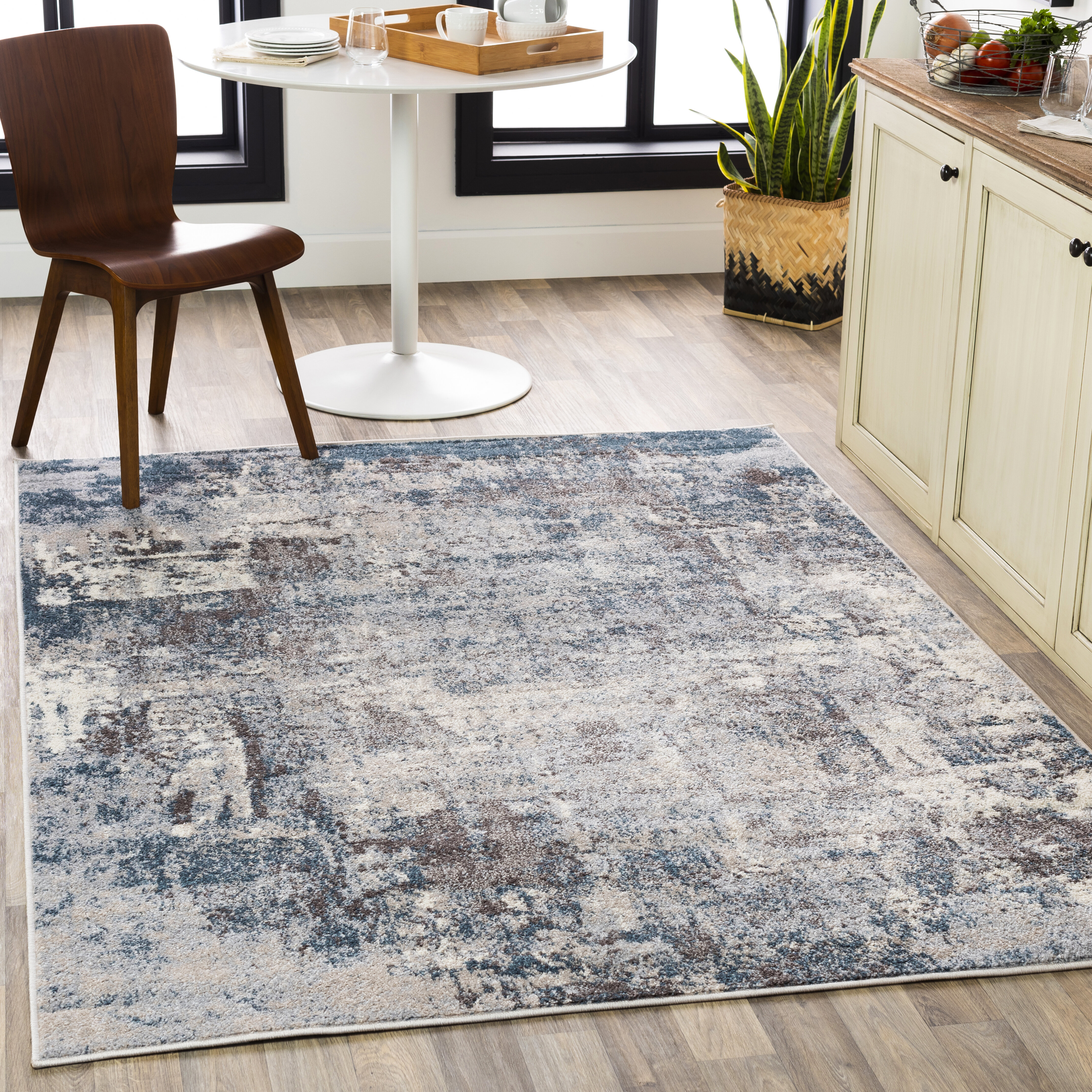 17 Stories Roy Abstract Gray Area Rug Reviews Wayfair