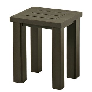 Sebrina Rectangular Aluminum Side Table