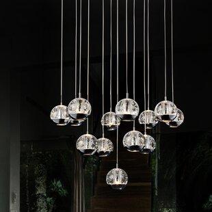 Orren Ellis Bagley 13-Light Cluster Pendant