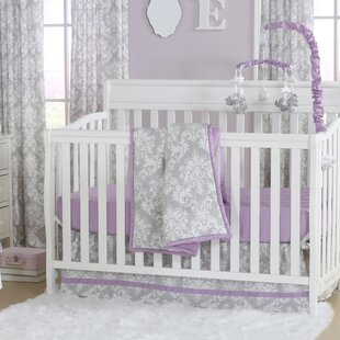 Top Reviews Damsel Damask 4 Piece Crib Bedding Set By The Peanut Shell