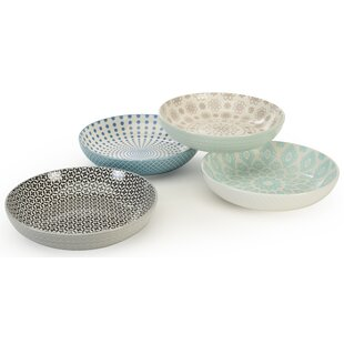 Clearbrook 4 Piece Pad Print Dining Bowl Set