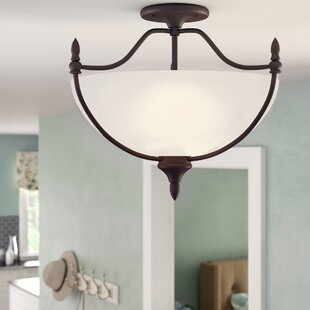 Ellender 3-Light Semi Flush Mount by Charlton Home