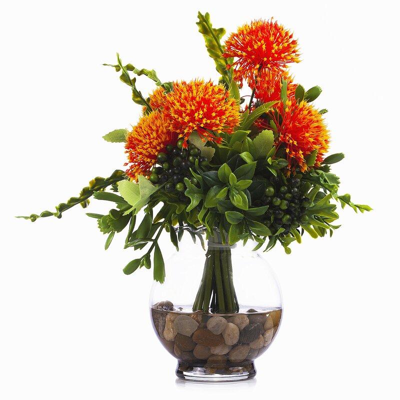 Primrue 11 Artificial Flowering Plant In Pot Wayfair