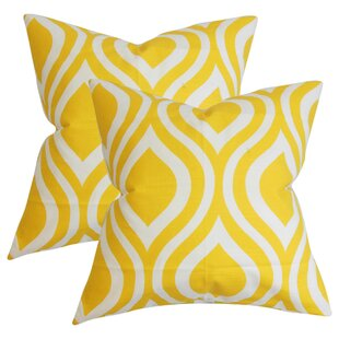Aiello Geometric Cotton Throw Pillow (Set of 2)