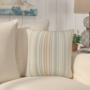 Livia Stripe Indoor/Outdoor Sunbrella Throw Pillow (Set of 2)