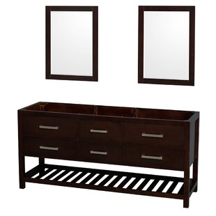 Natalie 71 Double Bathroom Vanity Base by Wyndham Collection