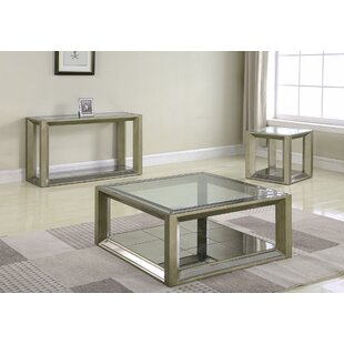 Everly Quinn Laury 3 Piece Coffee Table Set