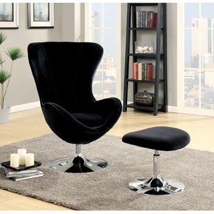Orren Ellis Ravenscourt Swivel Lounge Chair and Ottoman