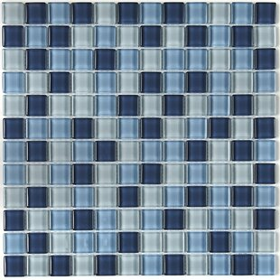 Review Geneva 1 x 1 Mosaic Field Tile in Winter Blues by Itona Tile