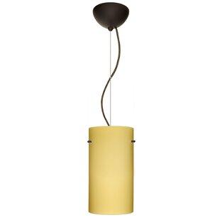 Tondo 1-Light Cylinder Pendant by Besa Lighting